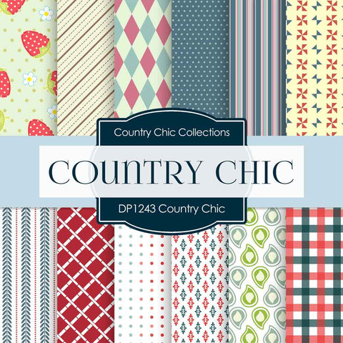 Country Chick Digital Paper DP1243 - Digital Paper Shop