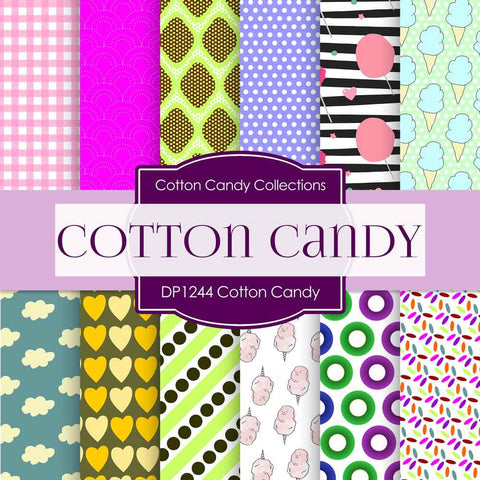 Cotton Candy Digital Paper DP1244 - Digital Paper Shop - 1