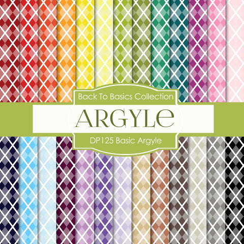 Basic Argyle Digital Paper DP125 - Digital Paper Shop - 1