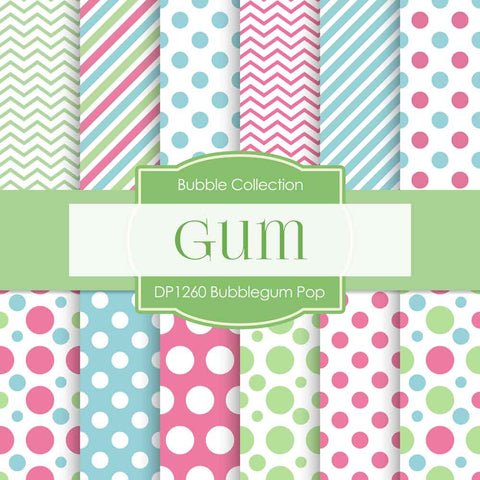 Bubblegum Pop Digital Paper DP1260 - Digital Paper Shop - 1