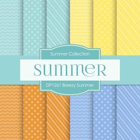 Breezy Summer Digital Paper DP1261 - Digital Paper Shop - 1