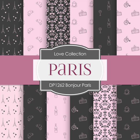 Bonjour Paris Digital Paper DP1262 - Digital Paper Shop - 1
