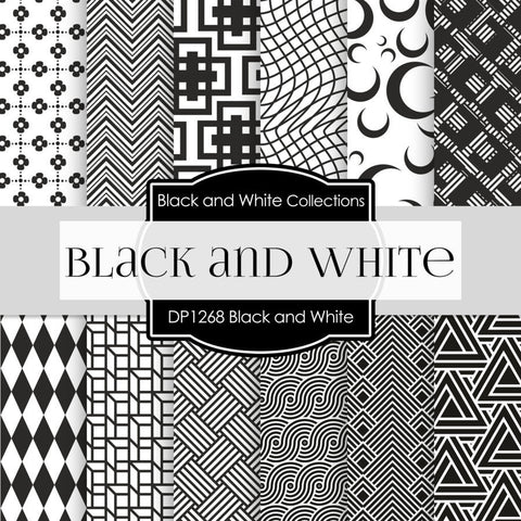 Black And White Digital Paper DP1268 - Digital Paper Shop - 1