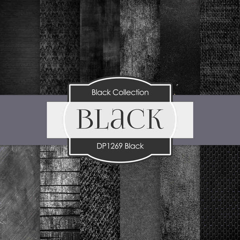 Black Digital Paper DP1269 - Digital Paper Shop - 1
