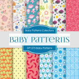 Baby Patterns Digital Paper DP1275 - Digital Paper Shop - 1