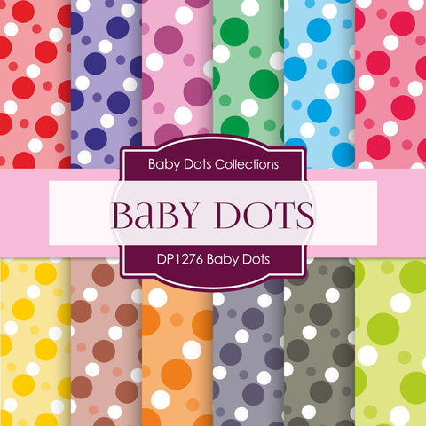 Baby Dots Digital Paper DP1276 - Digital Paper Shop - 1