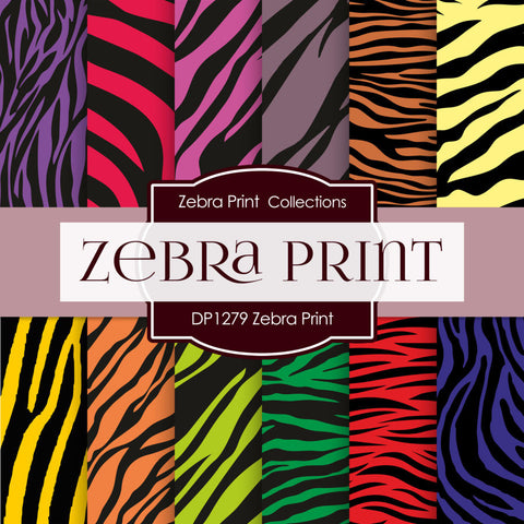 Zebra Print Digital Paper DP1279 - Digital Paper Shop - 1