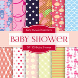 Baby Shower Digital Paper DP1305 - Digital Paper Shop - 1