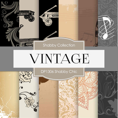 Shabby Chic Digital Paper DP1306 - Digital Paper Shop - 1