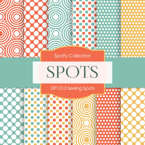 Seeing Spots Digital Paper DP1313 - Digital Paper Shop - 1
