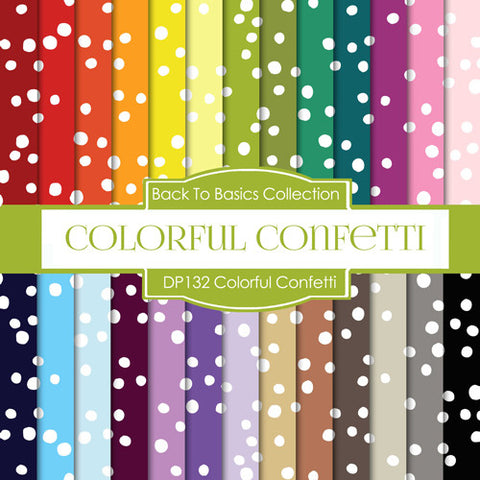 Colorful Confetti Digital Paper DP132 - Digital Paper Shop - 1