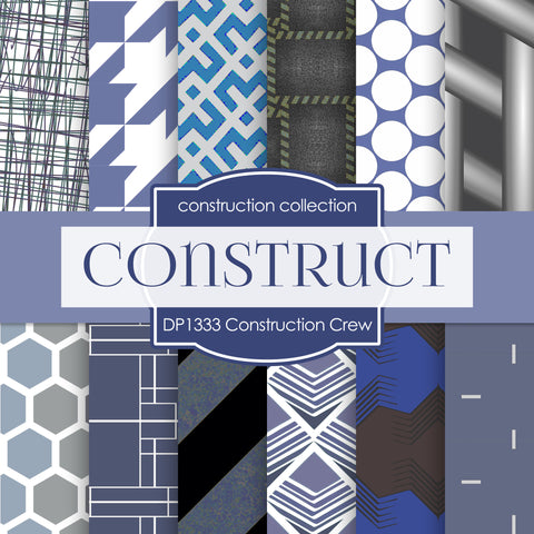 Construction Crew Digital Paper DP1333 - Digital Paper Shop - 1