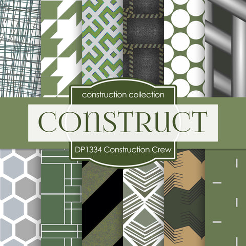 Construction Crew Digital Paper DP1334 - Digital Paper Shop - 1