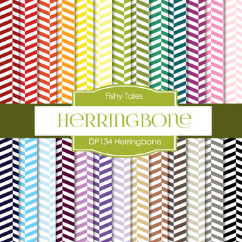 Herringbone Digital Paper DP134 - Digital Paper Shop - 1