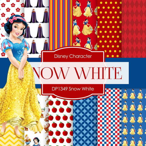 Snow White Digital Paper DP1349 - Digital Paper Shop - 1