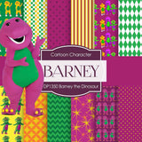 Barney The Dinosaur Digital Paper DP1350 - Digital Paper Shop - 1