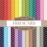 Fish Scales Digital Paper DP136 - Digital Paper Shop - 1