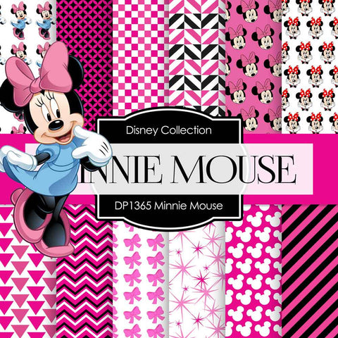 Minnie Mouse Digital Paper DP1365 - Digital Paper Shop - 1