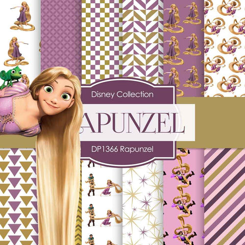 Rapunzel Digital Paper DP1366 - Digital Paper Shop - 1