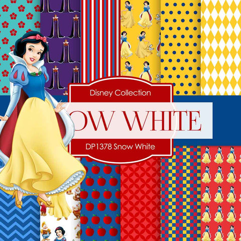 Snow White Digital Paper DP1378 - Digital Paper Shop - 1