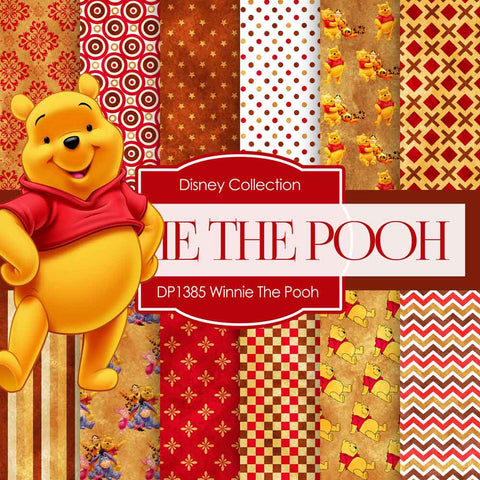 Winnie The Pooh Digital Paper DP1385 - Digital Paper Shop - 1