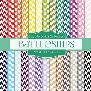 Mini Battleships Digital Paper DP139 - Digital Paper Shop - 1