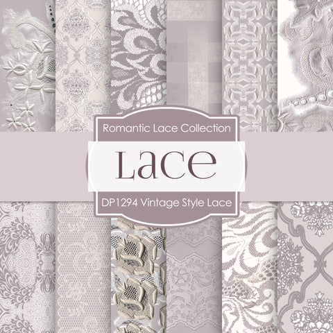 Vintage Style Lace Digital Paper DP1394 - Digital Paper Shop - 1