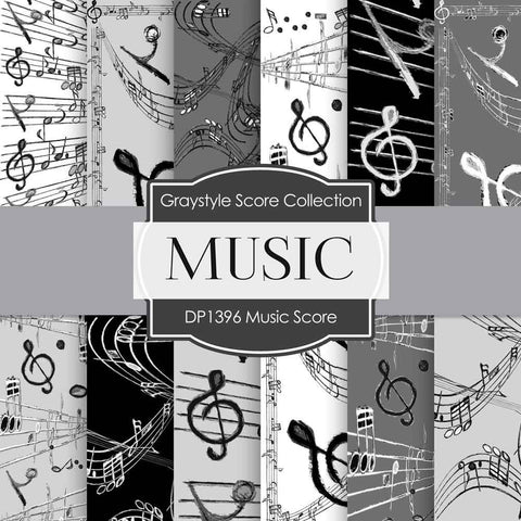 Music Digital Paper DP1396 - Digital Paper Shop - 1