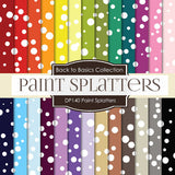 Paint Splatters Digital Paper DP140 - Digital Paper Shop - 1
