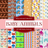 Baby Animals Digital Paper DP1400 - Digital Paper Shop - 1