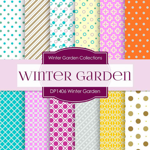 Winter Garden Digital Paper DP1406 - Digital Paper Shop - 1