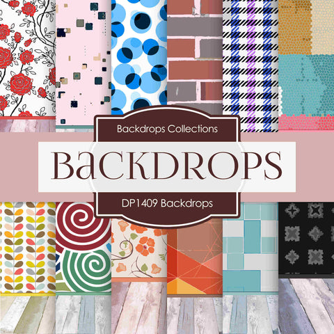 Backdrops Digital Paper DP1409 - Digital Paper Shop - 1
