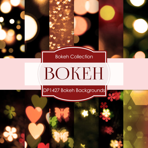 Bokeh Backgrounds Digital Paper DP1427A - Digital Paper Shop - 1