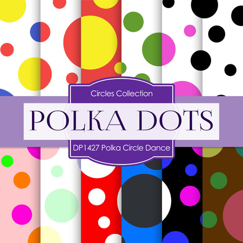 Polka Circle Dance Digital Paper DP1427 - Digital Paper Shop - 1