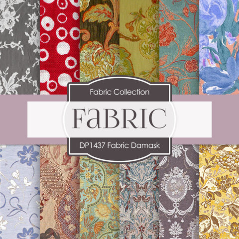 Fabric Damask Digital Paper DP1437 - Digital Paper Shop - 1