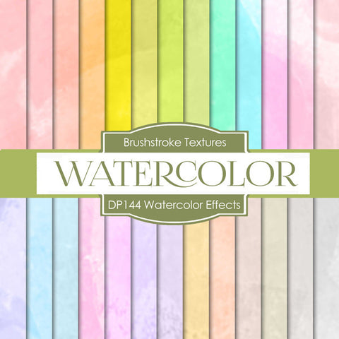 Watercolor Effects Digital Paper DP144 - Digital Paper Shop - 1