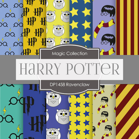 Ravenclaw Harry Potter Digital Paper DP1458 - Digital Paper Shop - 1
