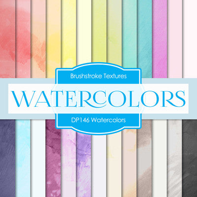 Watercolors Digital Paper DP146 - Digital Paper Shop - 1