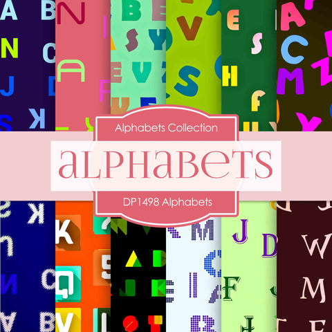 Alphabets Digital Paper DP1498 - Digital Paper Shop - 1