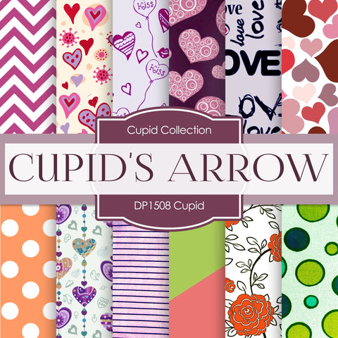 Cupid Digital Paper DP1508 - Digital Paper Shop - 1