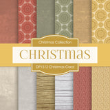 Christmas Carol Digital Paper DP1512 - Digital Paper Shop - 1