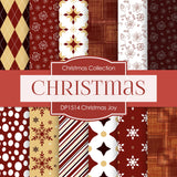 Christmas Joy Digital Paper DP1514 - Digital Paper Shop - 1
