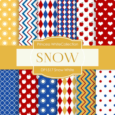 Snow White Digital Paper DP1517A - Digital Paper Shop - 1
