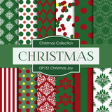 Christmas Joy Digital Paper DP151 - Digital Paper Shop - 1