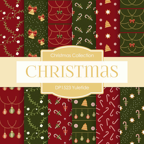 Yuletide Digital Paper DP1523A - Digital Paper Shop - 1