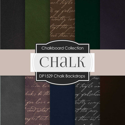 Chalk Backdrops Digital Paper DP1529 - Digital Paper Shop - 1