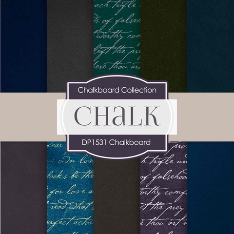 Chalk Backdrops Digital Paper DP1531 - Digital Paper Shop - 1