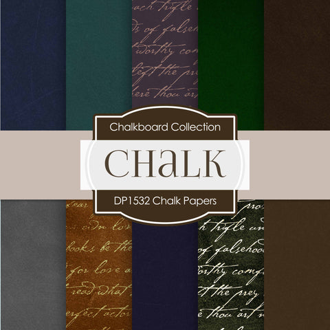 Chalk Papers Digital Paper DP1532 - Digital Paper Shop - 1