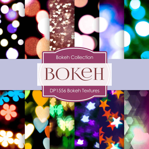 Bokeh Textures Digital Paper DP1556 - Digital Paper Shop - 1