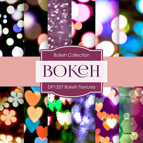 Bokeh Textures Digital Paper DP1557 - Digital Paper Shop - 1